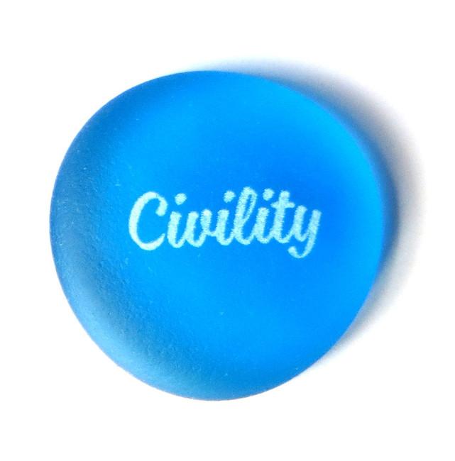 Sea Stone Civility from Lifeforce Glass, Inc.