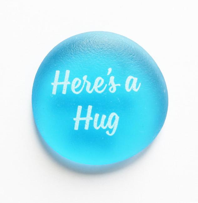 Sea Stone Here's A Hug from Lifeforce Glass, Inc.