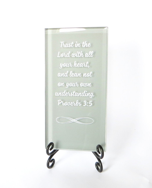 Trust in the Lord Inspirational Plaque from Lifeforce Glass