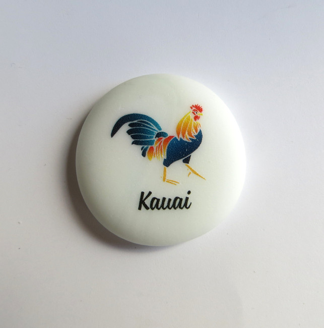 Kauai Rooster stone from Lifeforce Glass
