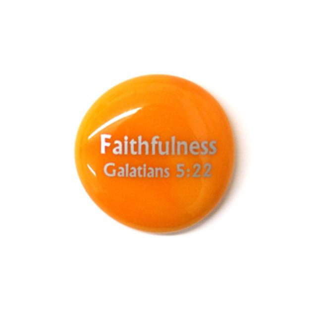 Fruit of the Spirit- Faithfulness... Glass Stone from Lifeforce Glass