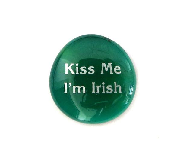 Kiss Me, I'm Irish... Glass Stone from Lifeforce Glass