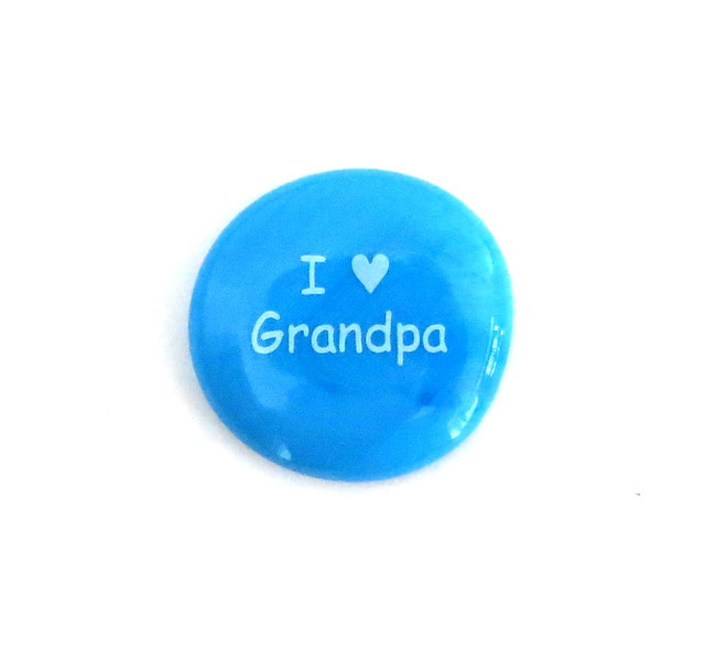 I (heart) Grandpa... Glass Stone From Lifeforce Glass