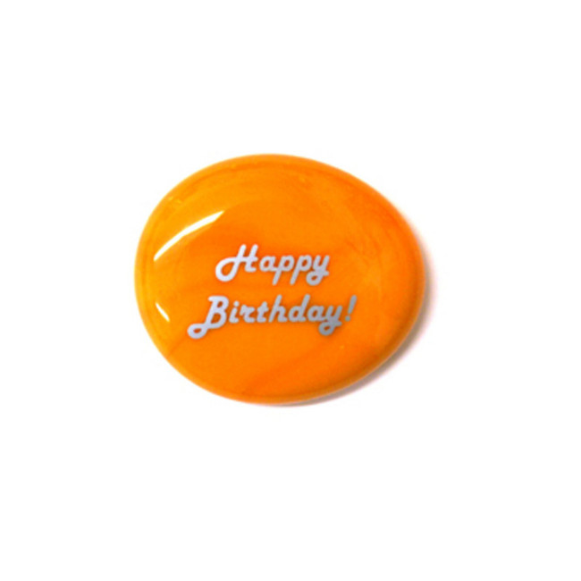 Happy Birthday... Glass Stone From Lifeforce Glass