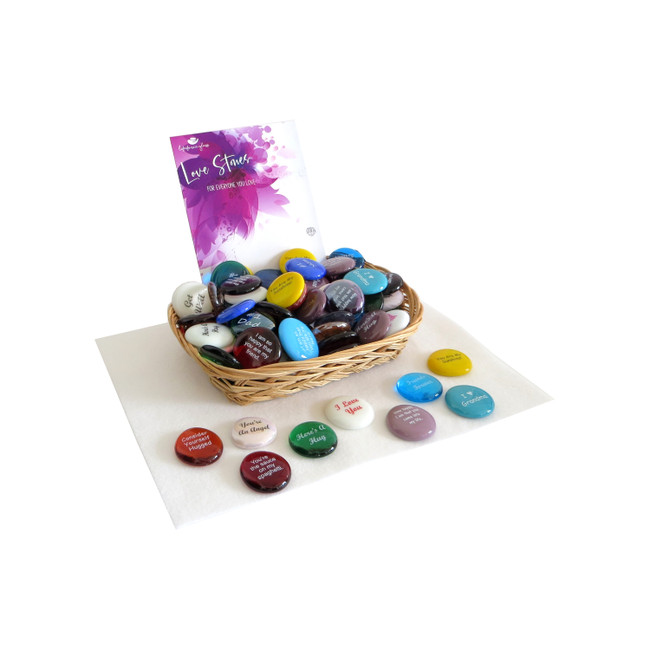 Love Stone Assortment of Glass Stones from Lifeforce Glass