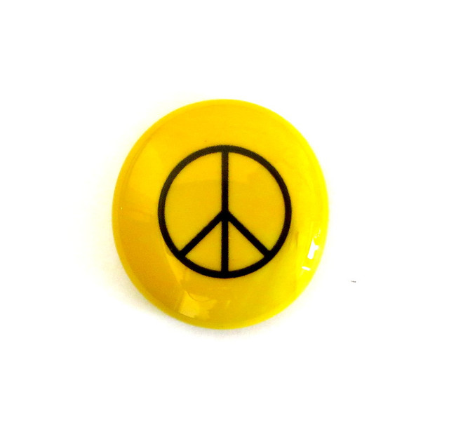 Peace sign... Glass Stone from Lifeforce Glass