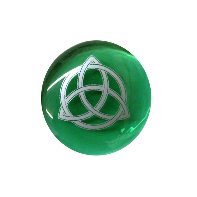 Triquetra... Glass Stone from Lifeforce Glass