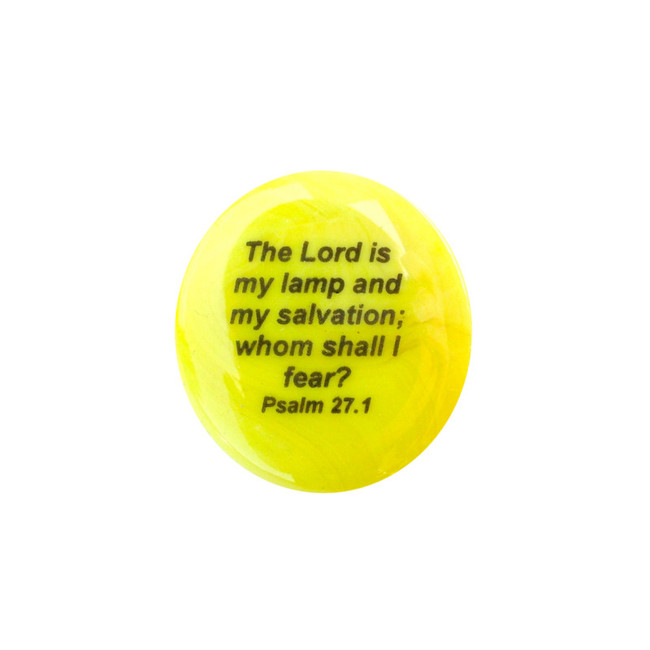 The Lord is my lamp and my salvation... Glass Stone from Lifeforce Glass