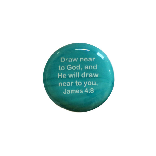 Draw near to God and he will draw... Glass Stone from Lifeforce Glass