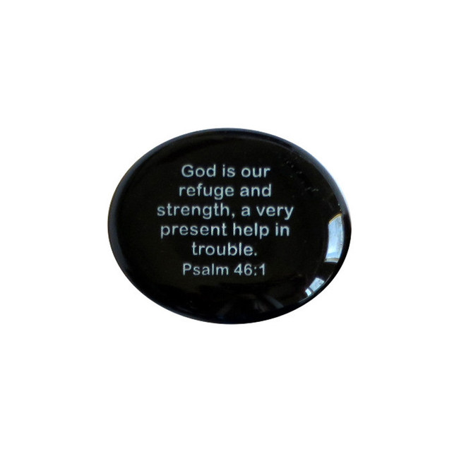 God is our refuge and strength, a very... Glass Stone from Lifeforce Glass