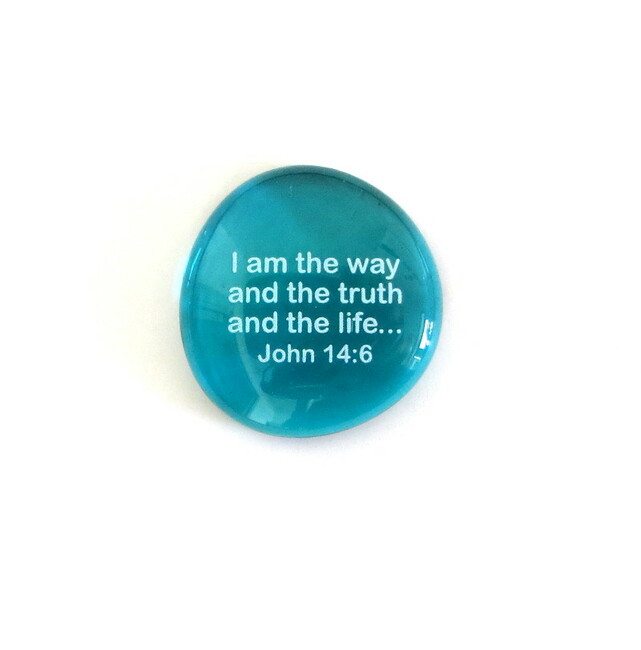 I am the way and the truth... Glass Stone From Lifeforce Glass