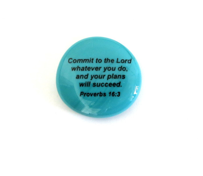 Commit to the Lord... Glass Stone From Lifeforce Glass