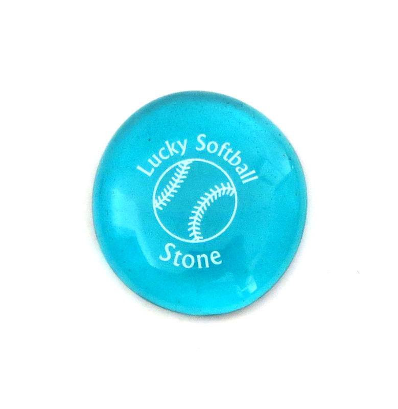 Lucky Softball Stone... From Lifeforce Glass