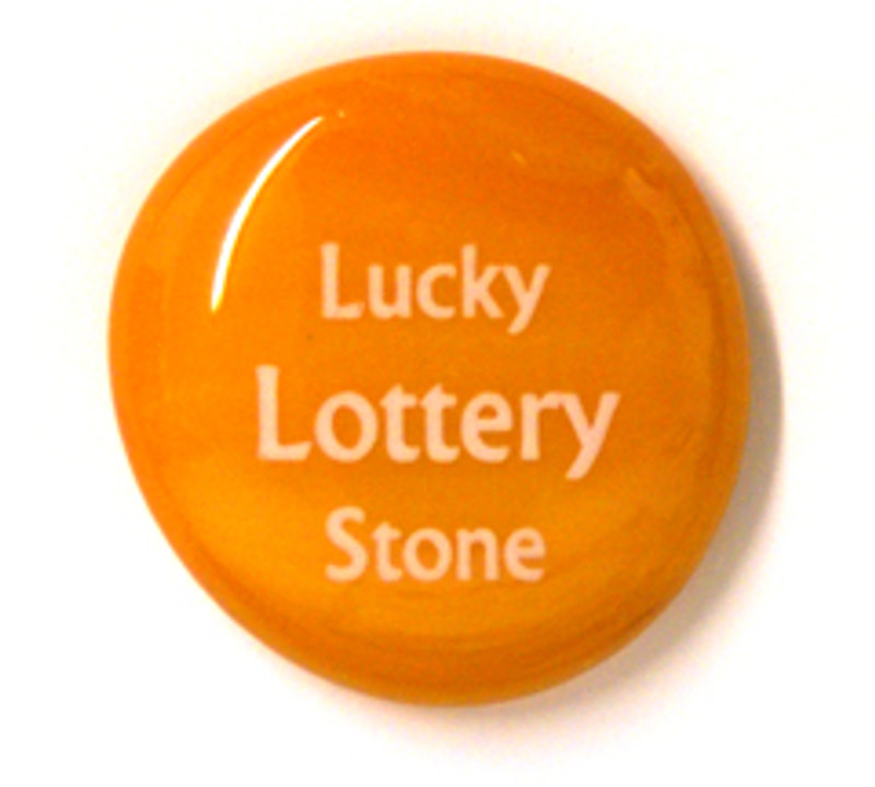 Lucky Lottery Stone...From Lifeforce Glass Inc.