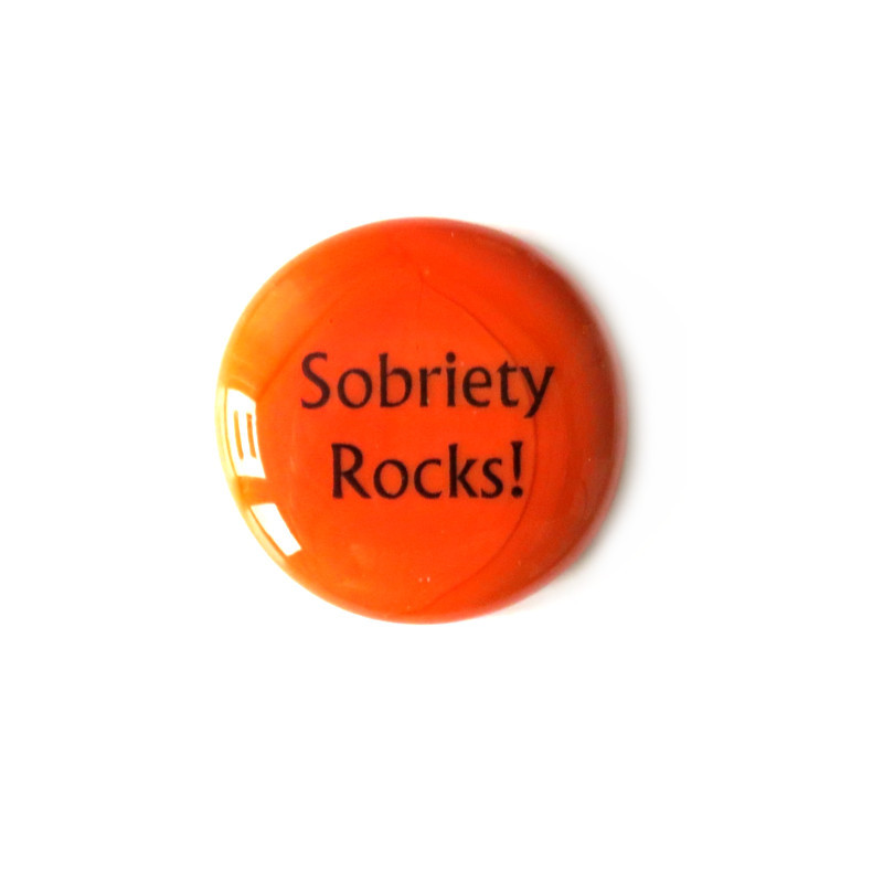Sobriety Rocks... Glass Stone From Lifeforce Glass