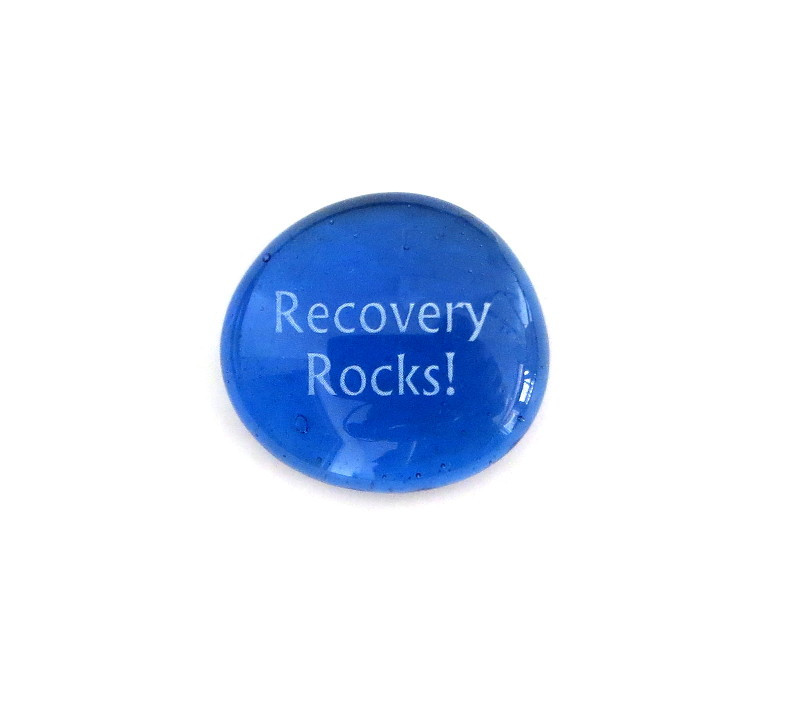 Recovery Rocks!... Glass Stone From Lifeforce Glass