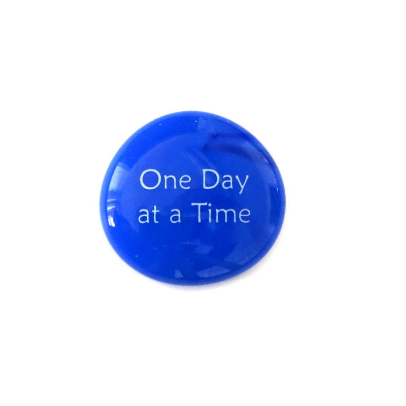 One day at a time... Glass Stone From Lifeforce Glass