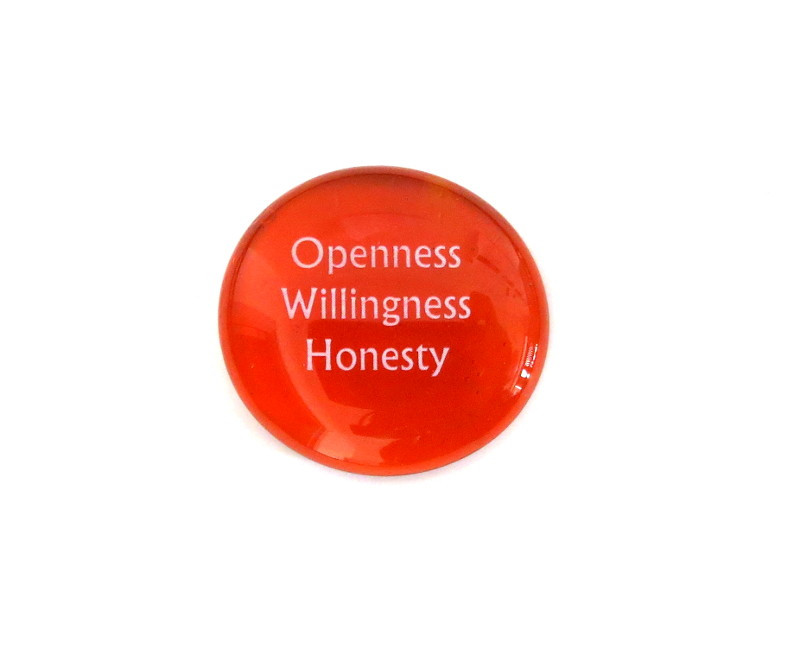 Openness Willingness Honesty... Glass Stone From Lifeforce Glass