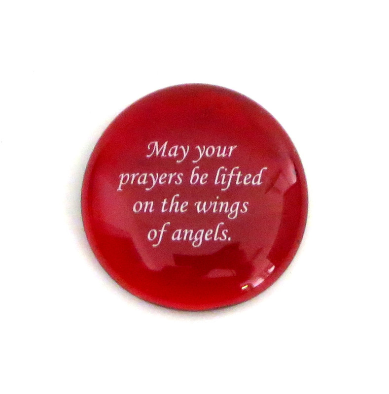 May your prayers be lifted... Glass Stone From Lifeforce Glass