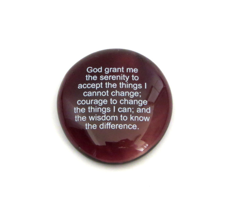 The Serenity Prayer Glass Stone...From Lifeforce Glass Inc.