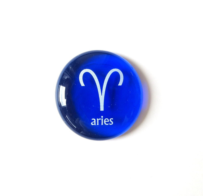 Aries Glass Stone from Lifeforce Glass, Inc.