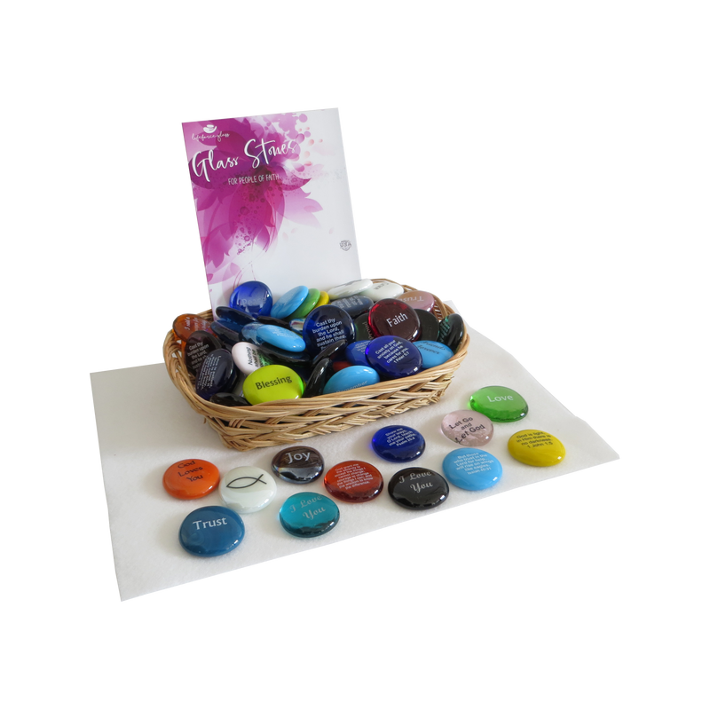 Christian Store Assortment of Glass Stones From Lifeforce Glass