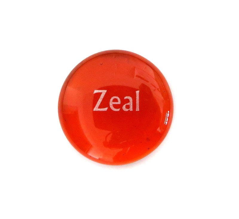 12 Powers- Zeal... Glass Stone from Lifeforce Glass