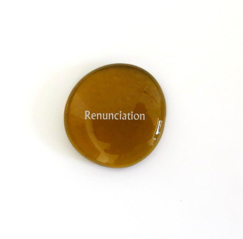 12 Powers- Renunciation... Glass Stone from Lifeforce Glass