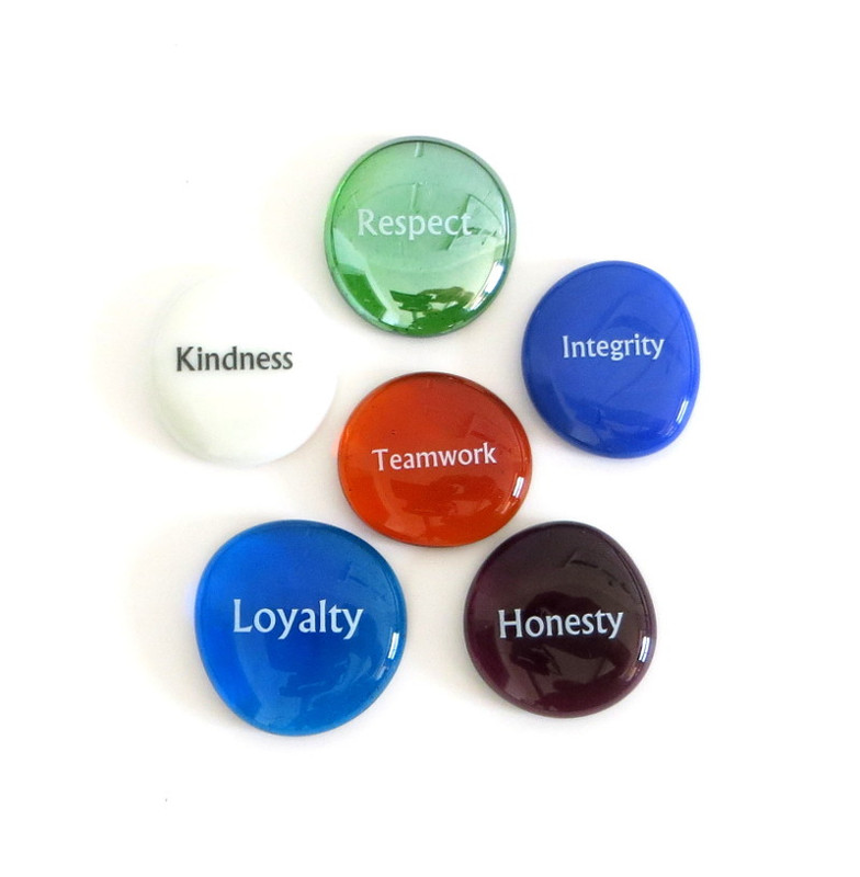 Character Builder Stones, set of six... From Lifeforce Glass