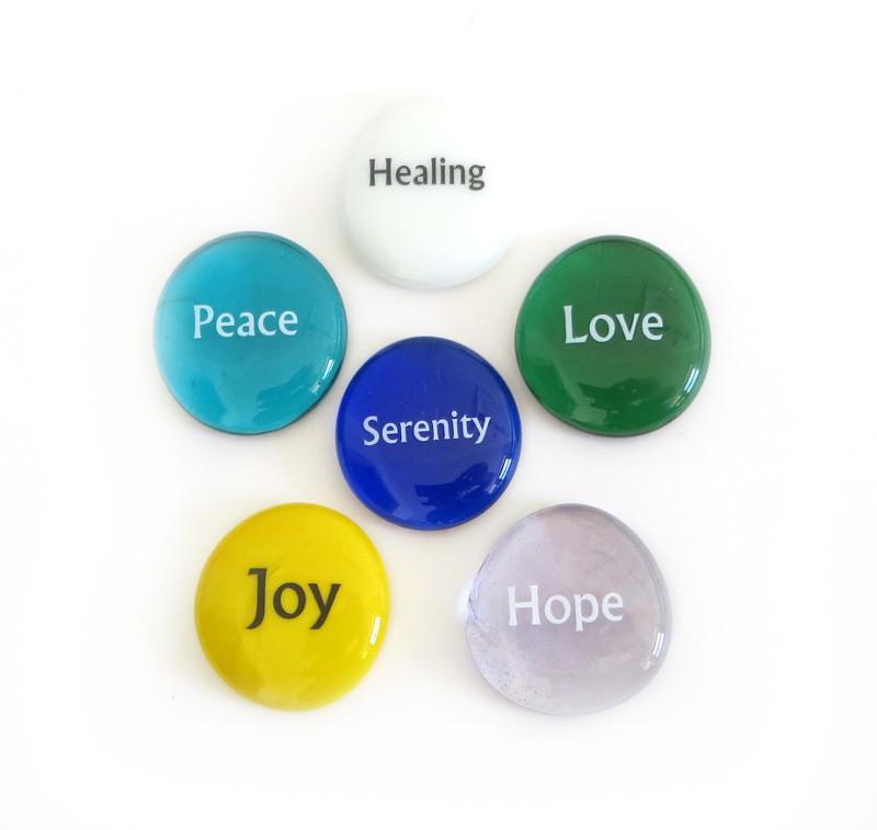 Focus Stones II, set of six...From Lifeforce Glass