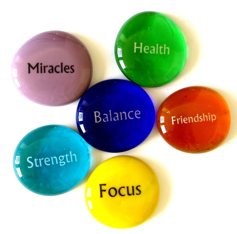 Focus Stones III, set of six...From Lifeforce Glass