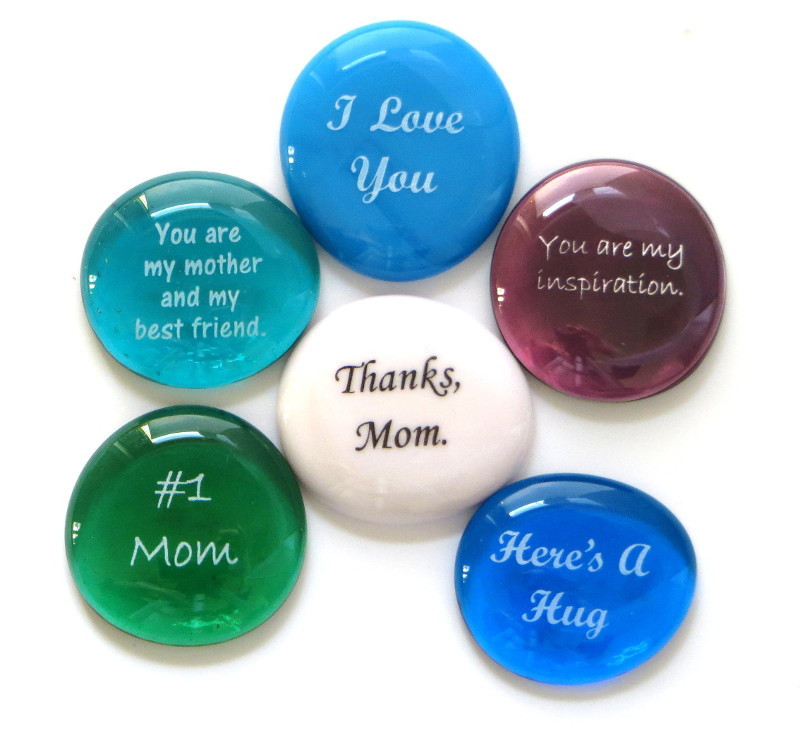 Glass Stones for Mom, set of six...From Lifeforce Glass