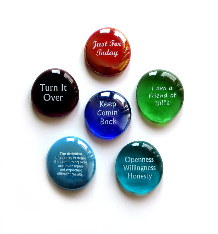 Recovery Stones III, set of six...From Lifeforce Glass