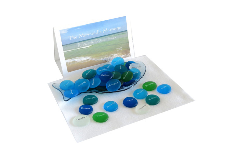 The Mermaid's Message Replica Sea Glass Stones from Lifeforce Glass, Inc.
