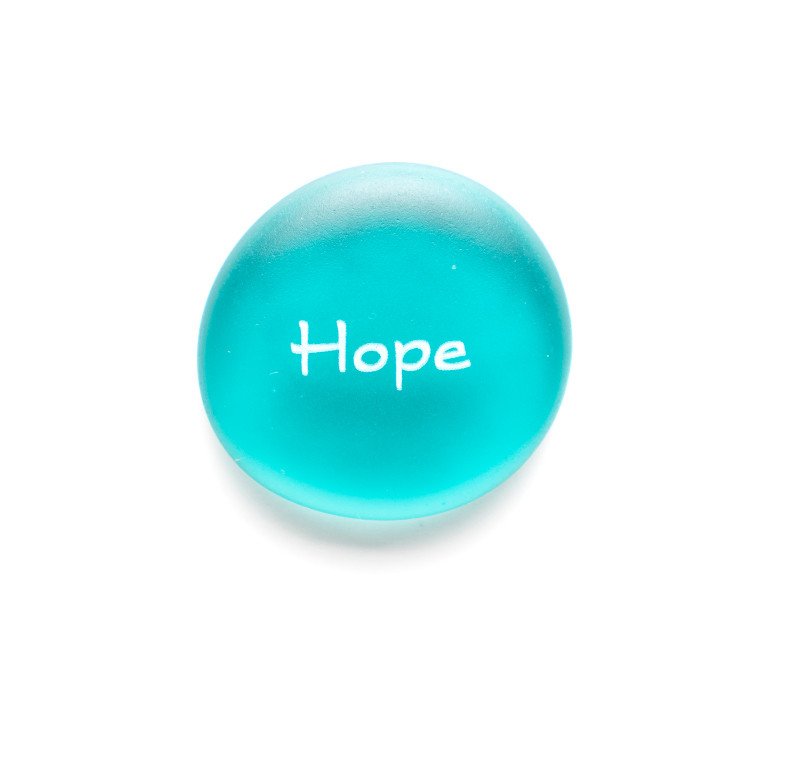The Mermaid's Message Hope, Aqua, from Lifeforce Glass, Inc.