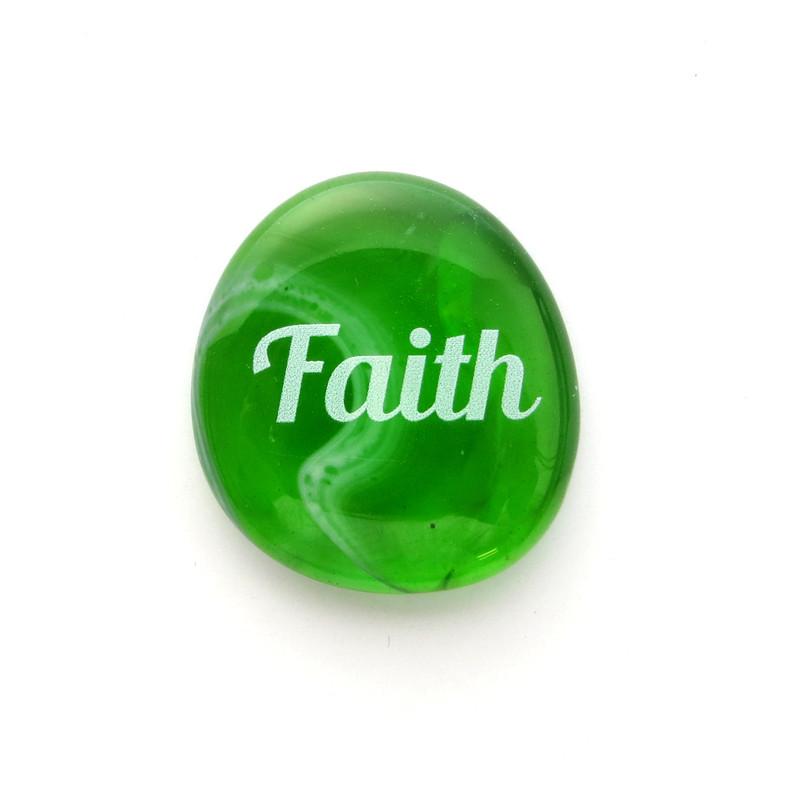 Festival Glass Stone, Faith, from Lifeforce Glass, Inc.
