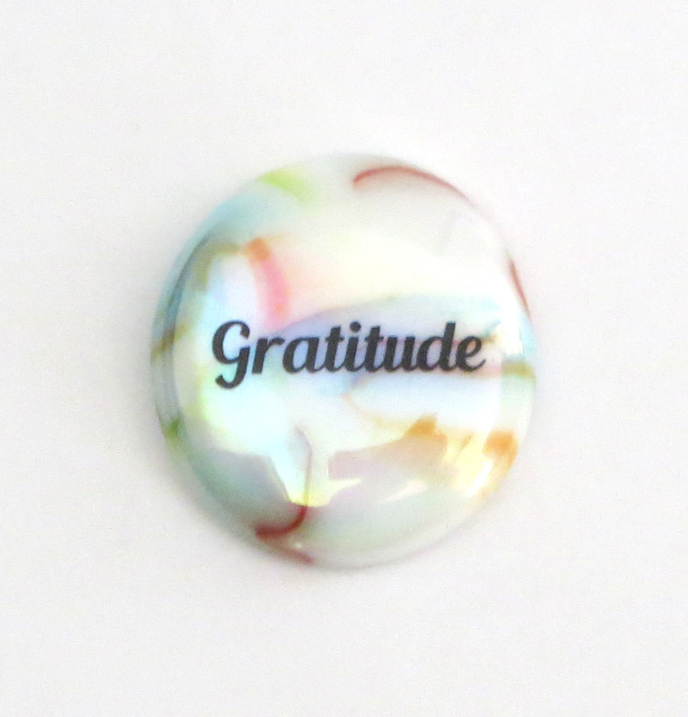 Gratitude Festival Glass stone from Lifeforce Glass, Inc.
