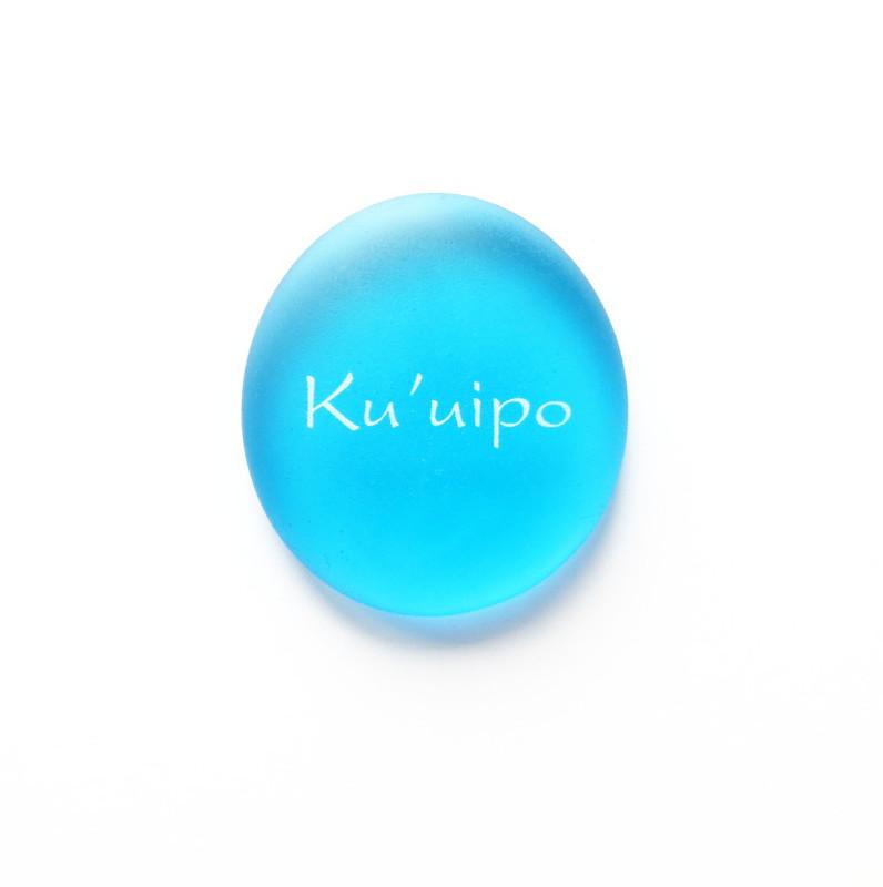 Ku'uipo Mermaid Message stone from Lifeforce Glass