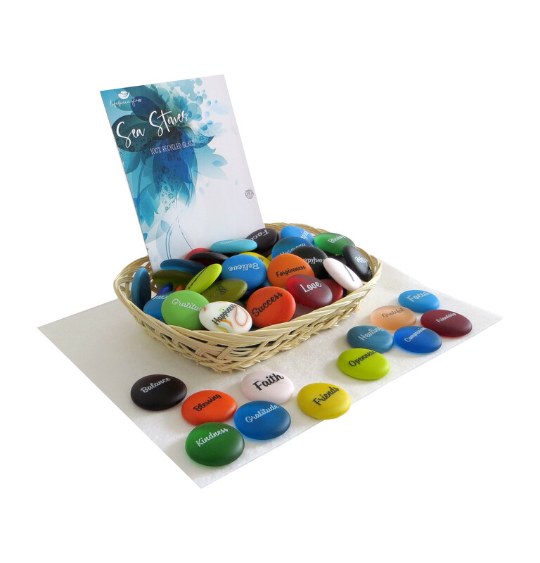 Sea Stone Assortment from Lifeforce Glass
