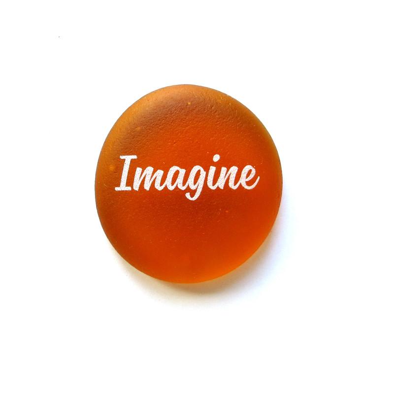 Imagine Sea Stone from Lifeforce Glass, Inc.