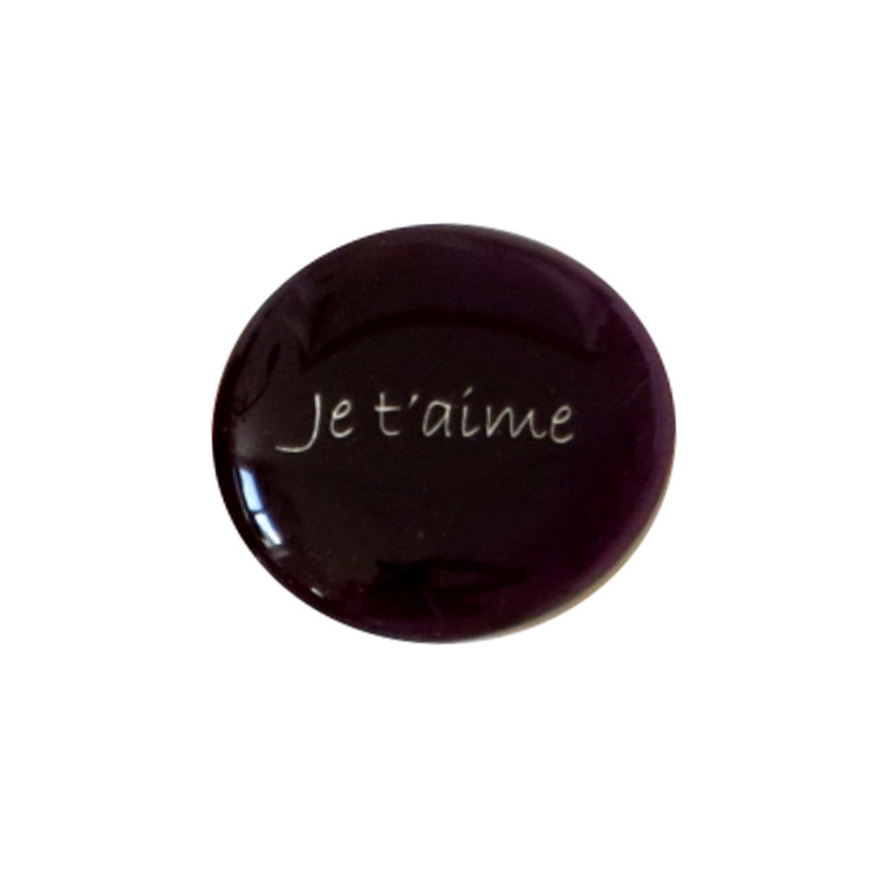 Je t'aime... Glass Stone From Lifeforce Glass