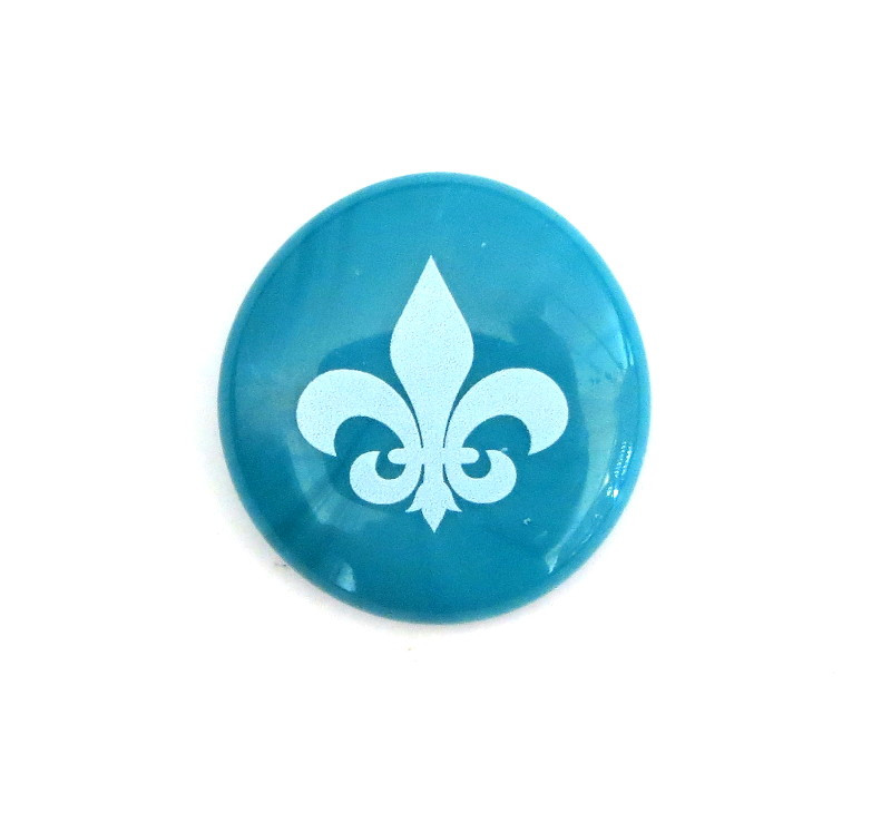 Fleur de Lis... Glass Stone from Lifeforce Glass