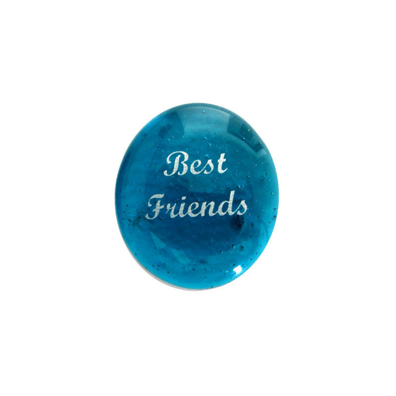 Best Friends... Glass Stone From Lifeforce Glass