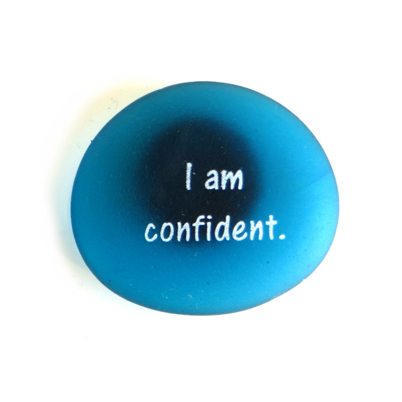 Affirmation Magnet, I am confident, by Lifeforce Glass, Inc.