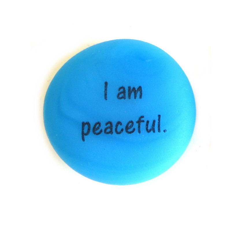 Affirmation Magnet, I am peaceful. From Lifeforce Glass, Inc.