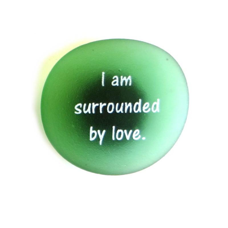 I am surrounded by love Affirmation Magnet by Lifeforce Glass, Inc.