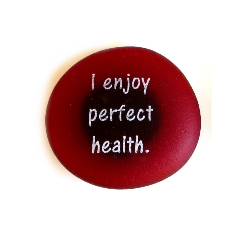 Affirmation Magnet, I enjoy perfect health. By Lifeforce Glass, Inc.