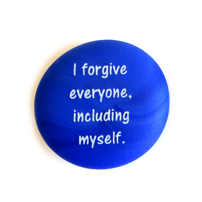 Affirmation Magnet, I forgive everyone, including myself. By Lifeforce Glass, Inc.