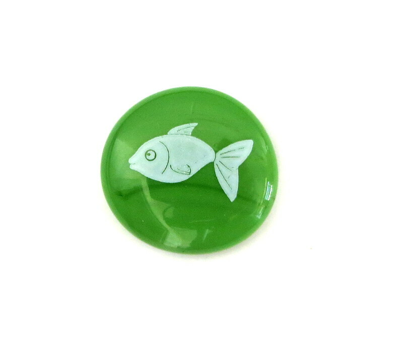 Fish... Glass Stone from Lifeforce Glass