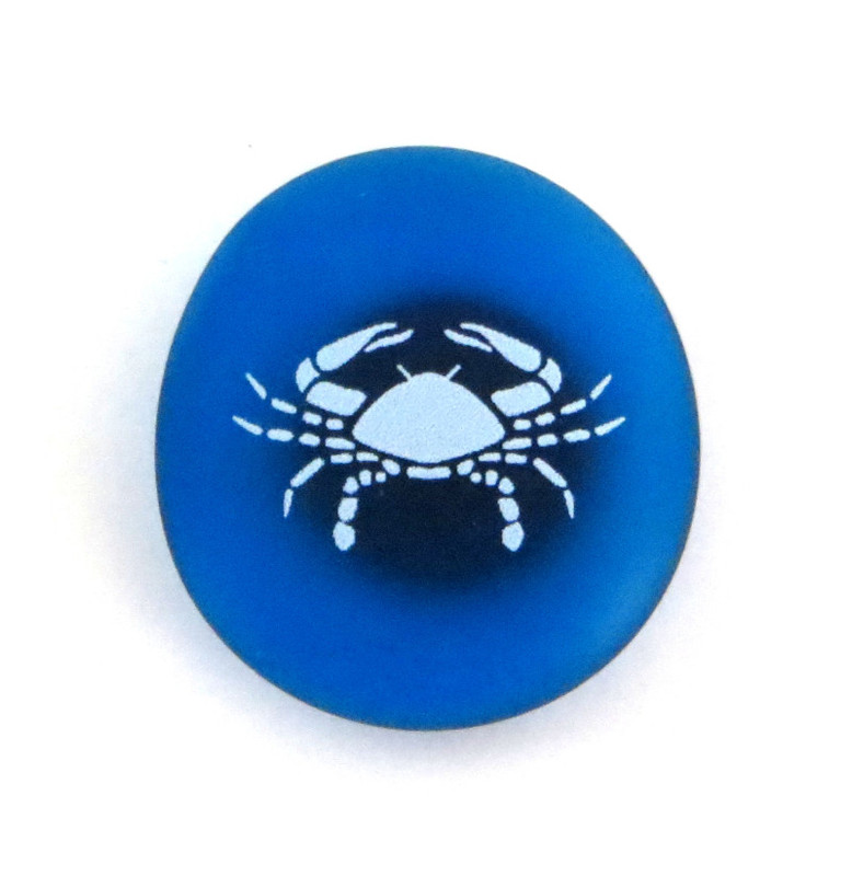 The Mermaid's Message Magnet- Crab... From Lifeforce Glass